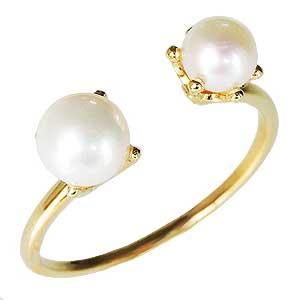 ファランジリング ミディリング ピンキーリング パールリング ルビーリング 真珠指輪 C型リング パール 真珠 あこや真珠 K18 ゴールド 送料無料 コットンパールではありません 誕生日 クリスマス ホワイトデー 記念日 プレゼント