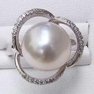 母の日 2019 南洋白蝶真珠 ダイヤモンド PT900 プラチナ リング ピンクホワイト系 12mm 指輪