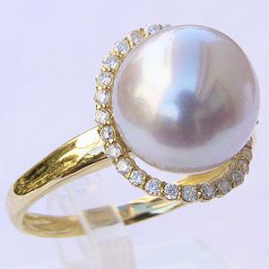 真珠 パール リング 南洋白蝶真珠 10mm K18 ゴールド 18金 真珠 パール 指輪 リング 普段使い