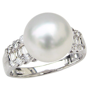 母の日 2019 真珠 パールリング 指輪 パール プラチナ リング ダイヤモンド