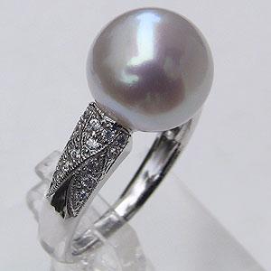 母の日 2019 真珠 パール リング 南洋白蝶真珠 10mm ホワイトゴールド 真珠 パール 指輪