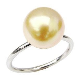 真珠リング パールリング 真珠指輪 パール指輪 ゴールデンパール k18 K18 18金 ホワイトゴールド 南洋白蝶真珠 ゴールド ゴールデンパール レディース カジュアル 普段使い
