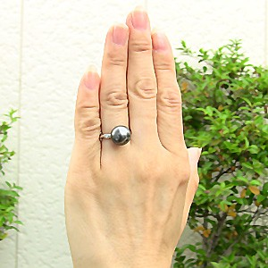 リング パール 指輪 黒真珠 ブラックパール PT900プラチナリング ダイヤモンド カジュアル7gyb6f