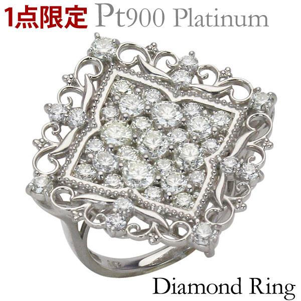 リング 1点限定 特価 植物 フラワー アラベスク ラグジュアリ ダイヤモンド 2.00ct PT900プラチナ 指輪 パヴェ レディース プレゼント 贈答 ジュエリー 保証書付 送料無料