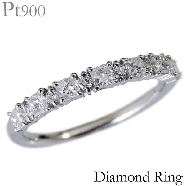 ダイヤモンド ダイヤモンド リング PT900プラチナ クリア グレー プリンセスカット レディース ダイヤ プレゼント 贈答 ジュエリー 保証書付 送料無料