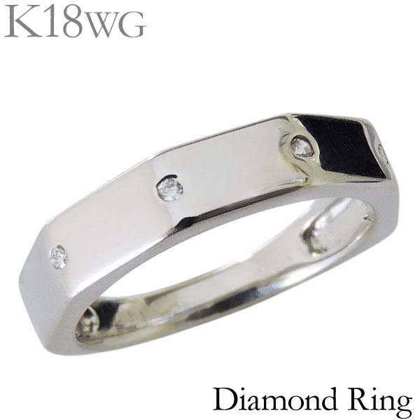 リング ダイヤモンド 0.04ct K18ホワイトゴールド レディース ダイヤ プレゼント 贈答 ジュエリー 保証書付 送料無料