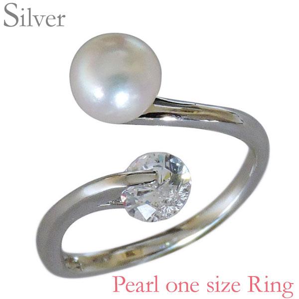 指輪 あこや本真珠 キュービックジルコニア SVシルバー 6mm リング レディース アコヤ あこや pearl プレゼント 贈答 ジュエリー 保証書付 送料無料