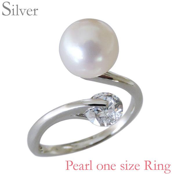 指輪 あこや本真珠 キュービックジルコニア SVシルバー 8mm リング レディース アコヤ あこや pearl プレゼント 贈答 ジュエリー 保証書付 送料無料