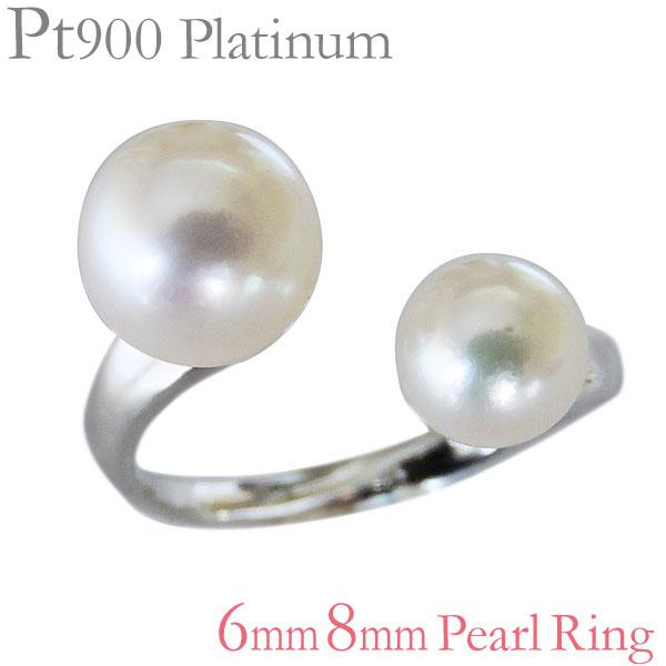 指輪 あこや本真珠 PT900プラチナ 6mm、8mm リング レディース アコヤ あこや pearl プレゼント 贈答 ジュエリー 保証書付 送料無料
