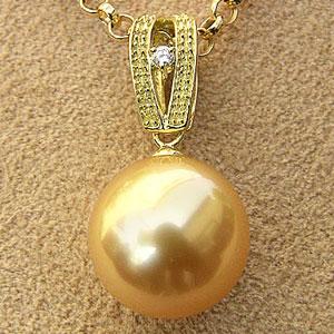 母の日 2019 ネックレスペンダント 南洋真珠パール K18ゴールドネックレス ダイヤモンド