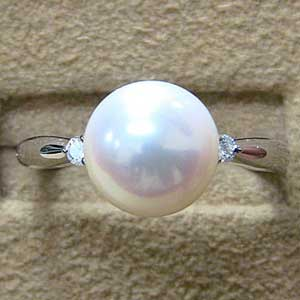 母の日 2019 真珠 パール リング あこや本真珠 9mm ダイヤモンド プラチナ 指輪