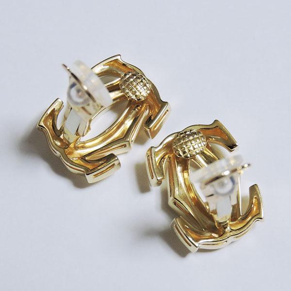 イヤリング K18イエローゴールド 両耳用 カルティエ Cartier ぺネロープ 2Cモチーフ 750 レディース プレゼント 贈答 ジュエリー 保証書付 送料無料XuOZTPkwi