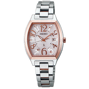 卒業 入学 SEIKO セイコー ルキア LUKIA レディ・トノーシリーズ 女性用 ソーラー電波時計 腕時計 正規品 1年保証書付 SSVW048