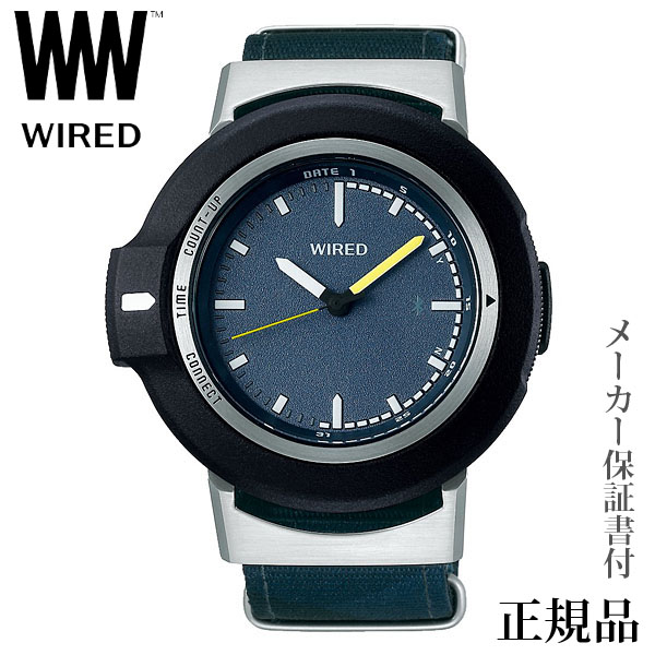 卒業 入学 SEIKO ワイアード WIRED WW ツーダブ TYPE01 ネイビー Bluetooth 男性用 クオーツ アナログ 腕時計 正規品 1年保証書付 AGAB404