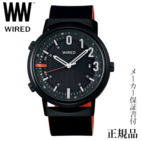 卒業 入学 SEIKO ワイアード WIRED WW ツーダブ TYPE02 ブラック Bluetooth 男性用 クオーツ アナログ 腕時計 正規品 1年保証書付 AGAB409