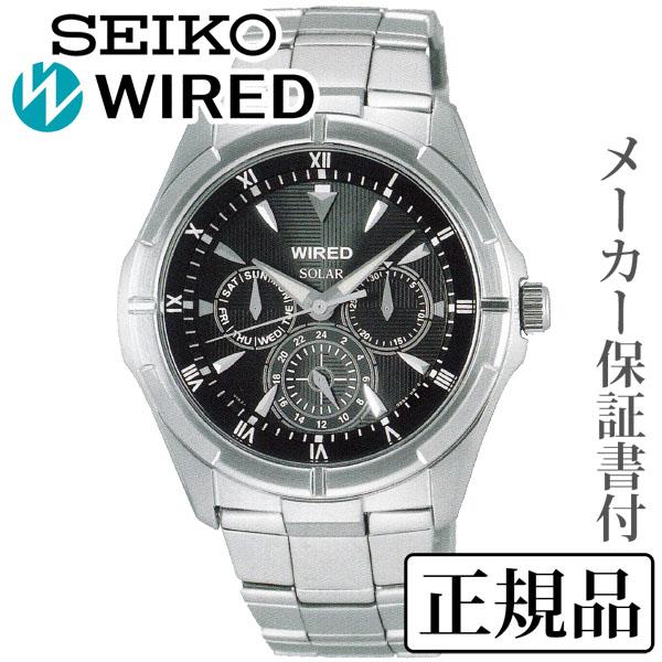 卒業 入学 SEIKO セイコー ワイアード WIRED NEW STANDARD MODEL ニュースタンダードモデル 男性用 ソーラー 多針アナログ 腕時計 正規品 1年保証書付 AGAD032
