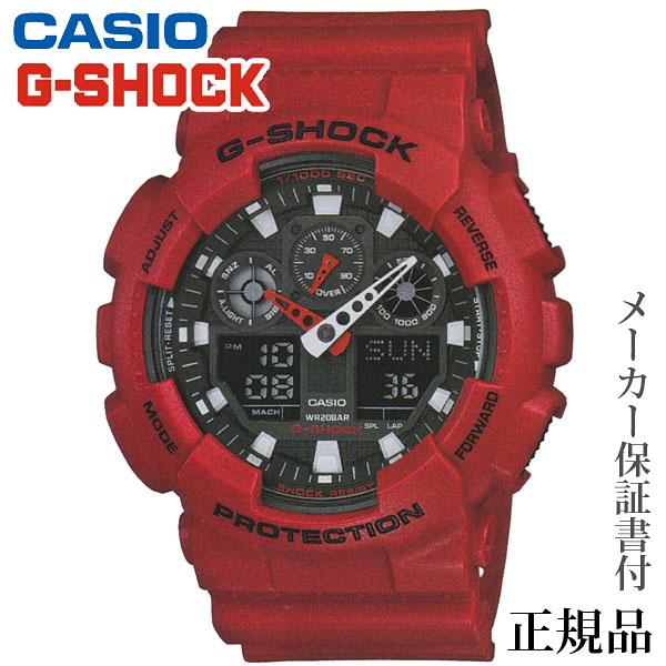 母の日 2019 CASIO カシオ G-SHOCK GA-100 Series 男性用 クオーツ アナデジ 腕時計 正規品 1年保証書付 GA-100B-4AJF