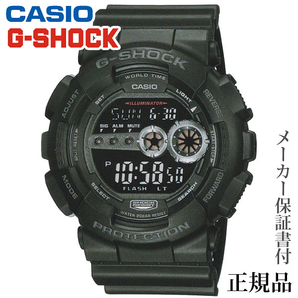 卒業 入学 CASIO カシオ G-SHOCK GD-100 Series 男性用 クオーツ デジタル 腕時計 正規品 1年保証書付 GD-100-1BJF