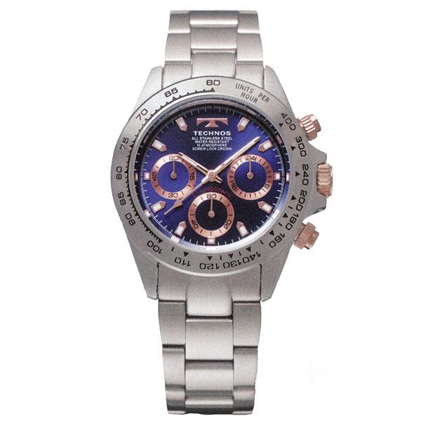 母の日 2019 TECHNOS テクノス クロノグラフ 男性用 クオーツ 多針アナログ 腕時計 正規品 1年保証書付 tsm411pn
