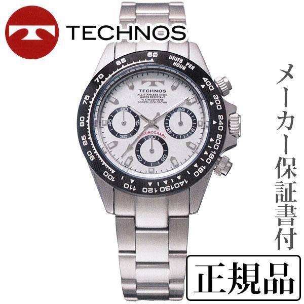 母の日 2019 TECHNOS テクノス クロノグラフ 男性用 クオーツ 多針アナログ 腕時計 正規品 1年保証書付 tsm411tw
