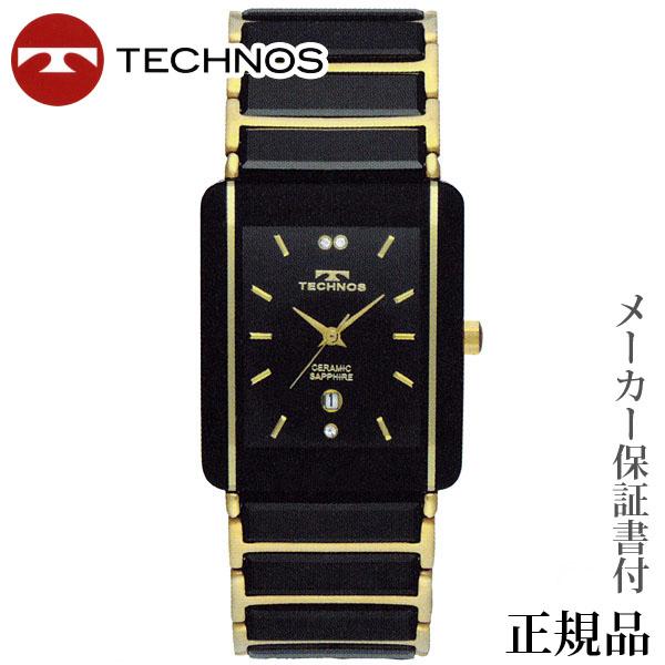 TECHNOS テクノス サファイアガラス×セラミックバンド ペア クオーツ アナログ 腕時計 正規品 1年保証書付 tsm903gb