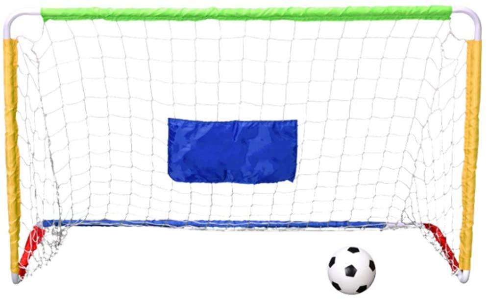 サッカーゴール サッカーボール 子供 サッカー 練習 開催中 室内 金属フレーム ネット付き 高い素材 空気入れ 組み立て 簡易ゴール 屋外用