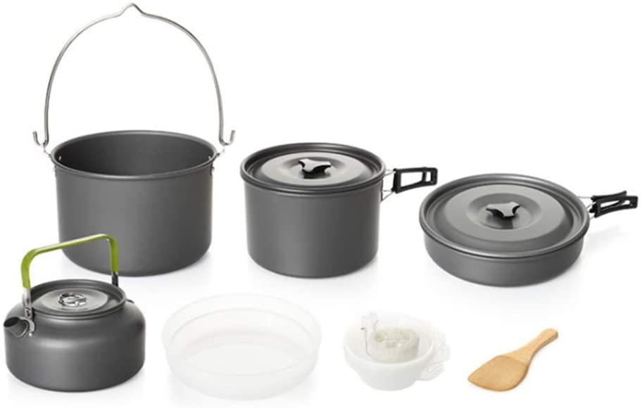アルミクッカーセット 5-6人に適応 ※ラッピング ※ メーカー公式ショップ キャンプ アウトドア 収納袋付き 料理鍋