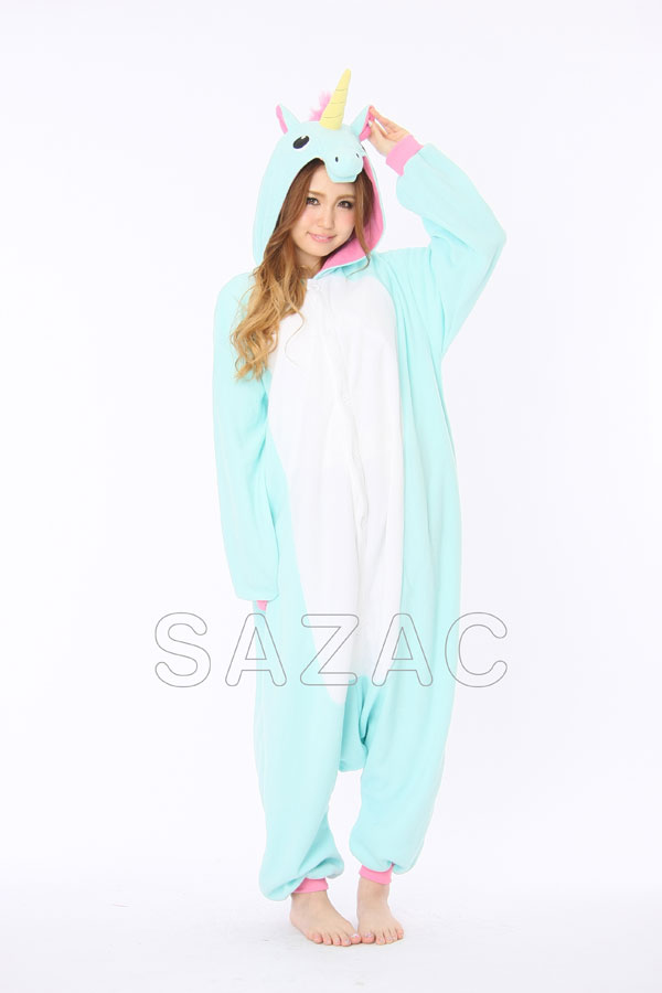 SASAC fleece costume blue Unicorn costume-when stuffed Unicorn animal fleece character Pajamas Pajamas costume disguise-  sc 1 st  Rakuten & shinobiya | Rakuten Global Market: SASAC fleece costume blue Unicorn ...