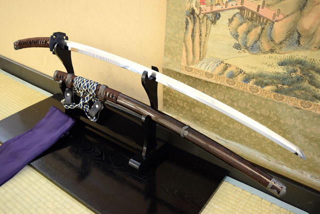 名刀伝 天下五剣 「童子切安綱」太刀 最高級仕様 (刀袋付き) コスプレのグッズとしても人気です。 日本刀 【送料無料】