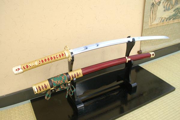美貌の若武者 模造刀 『源義経』拵え コスプレのグッズとしても人気です。 日本刀