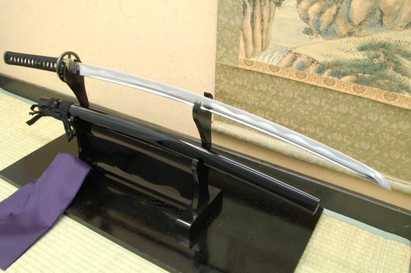 居合刀 居合練習刀 『入門用 網代拵え・車輪透し』居合刀身2尺4寸5分-(刀袋付き) ast 日本刀
