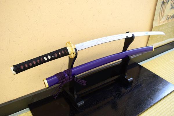 模造刀 新刀匠シリーズ「大倶利伽羅」 二本掛け台付