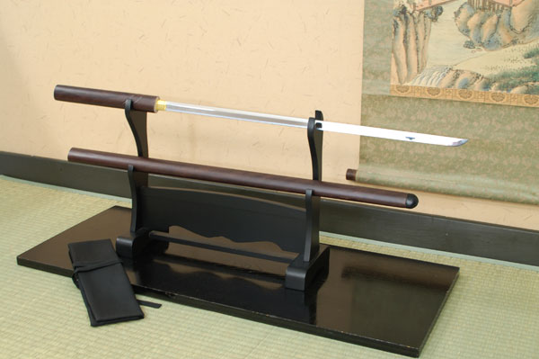 尾形刀剣 ラスト座頭市仕込み杖 楕円古式鞘(木箱・刀袋付き) ZT-13