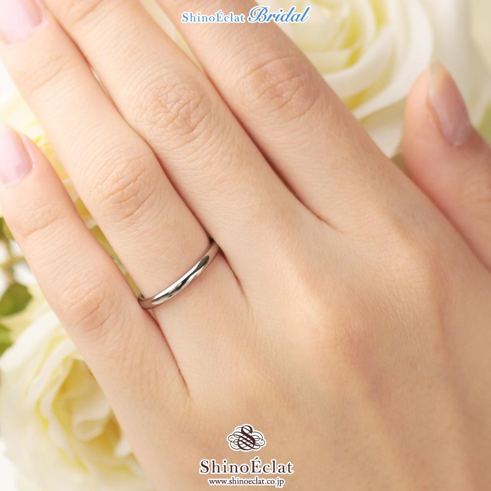 結婚指輪 プラチナ Pt950(鍛造) スタンダード・マリッジリング 2mm  甲丸 刻印無料 platinum リング 指輪 ring