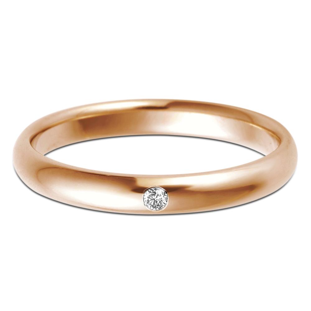 結婚指輪 K18 RG(ローズゴールド) スタンダード・ダイヤモンド マリッジリング 2.5mm鍛造 リング 指輪 ring