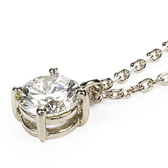 ネックレス>ダイヤモンドネックレス>Pt 一粒ダイヤモンドネックレス アンシャンテ 0.3ct