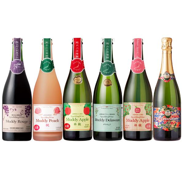 スパークリングワイン飲み比べセット 750ml×6本セット果実酒 日本ワイン 国産ワイン まとめ買い 宴会 パーティー ストック 海外へのお土産 誕生日ギフト 夏ギフト お中元