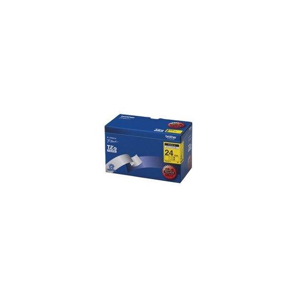 ブラザーのラベルライター PCラベルプリンタ用テープ 2020モデル ブラザー 文字テープ 好評 5個 24mm TZe-651V黄に黒文字