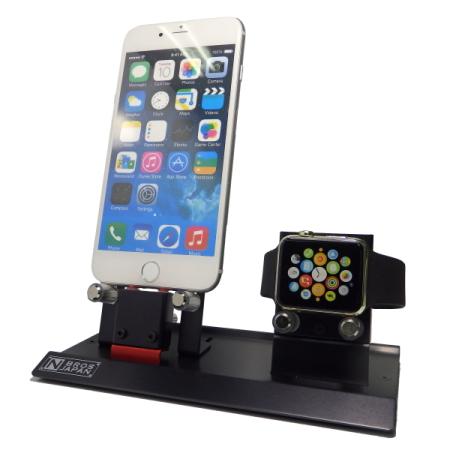 【店内全品ポイント2倍・クーポンもあり】【NBROS】AppleWatch&iPhone充電スタンド NB-AW004NW 長尾製作所 4色