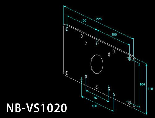 【NBROS】VESA規格変換プレート NB-VS1020 長尾製作所【S】【M】