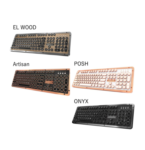 Retro Classic BT メカニカルキーボード タイプライター型 キーボード 日本語版配列 Azio RETRO CLASSICS 4色 Bluetooth & USB接続 JIS規格版 【S】