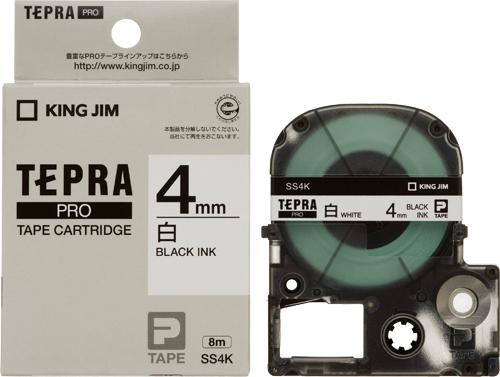 原則 営業日の午前中のご注文は 当日出荷させていただきます 在庫あり キングジム SS4K NEW 新作入荷 テプラテープ 白ラベル