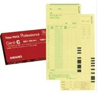 アマノ 出群 セール特価品 タイムカード TimeP@CKカード 旧ProP@CKカードCカード 6欄印字 Cカード