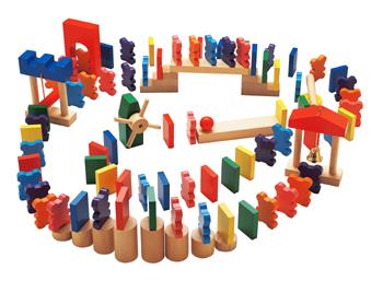 【エドインター】木のおもちゃ(NEWドキドキドミノ)/出産祝い/プレゼント/誕生日/男の子/女の子/知育玩具