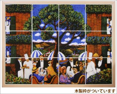 【アウトレット】ウォールミューラル(陶器タイル画)12面タイプサンタバーバラわけあり/セール/B品