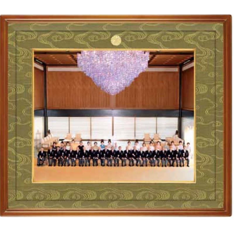 桔梗(ききょう) 写真額・半切 KK-03