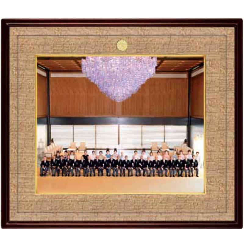 桔梗(ききょう) 写真額・半切 KM-03