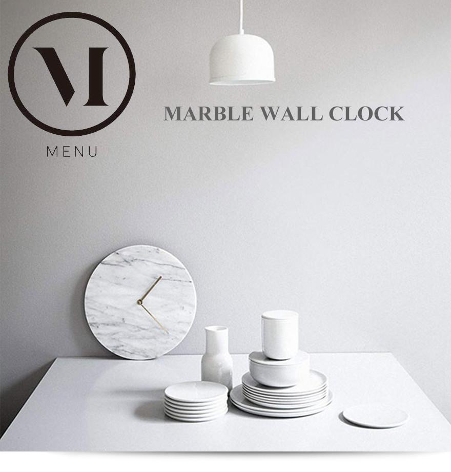 Marble Wall Clock マーブルウォールクロックmenu メニュー NORM ノーム壁掛け時計/ウォッチ/大理石/北欧 コンビニ受取対応