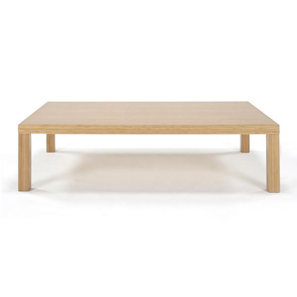 リビングテーブル角脚 TL-K1285 W1200【美しい竹の家具TEORI テオリ】竹無垢 日本製/岡山