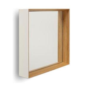 ○ZEROの四角い鏡モデル トメ を極めたシャープな印象の壁掛けミラー 内側に角度をつけることでよりスタイリッシュ 特徴を活かした壁掛けには二通りに使い分けれます ZERO KAKU 角 乳白色 黒色 ゼロ美しい竹の家具TEORI 出色 ミラー テオリ 鏡 ふるさと割 カガミ 日本製 岡山 TEORI 竹無垢 mirror